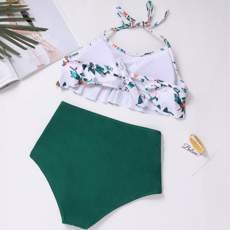 Bikinis-Taille-Haute-Femmes-Maillot-De-Bain-Taille-Plus-Maillot-De-Bain-Mai-I5S1 miniature 6