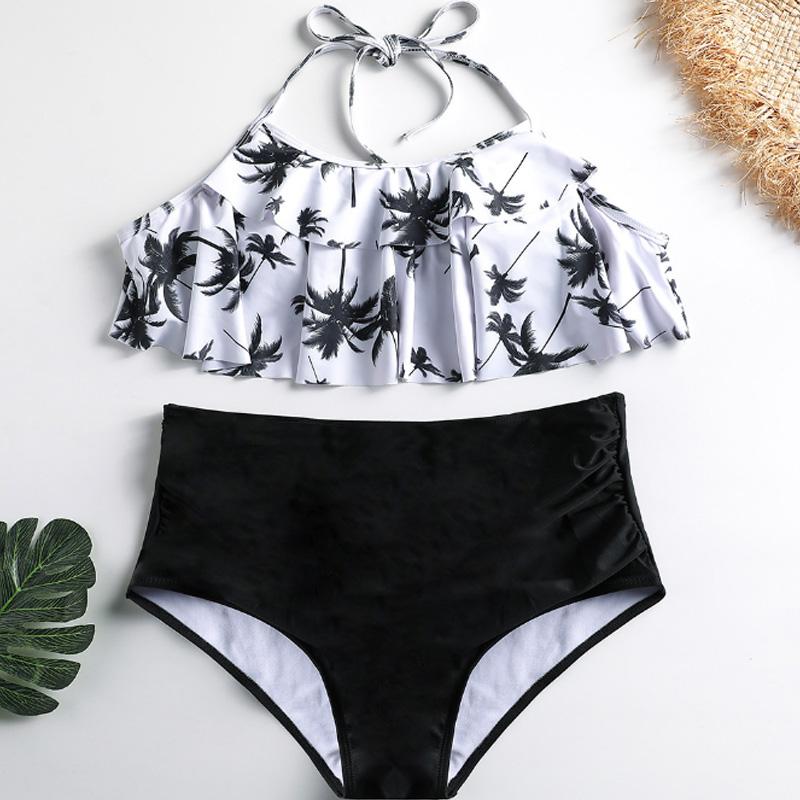 Bikinis-Taille-Haute-Femmes-Maillot-De-Bain-Taille-Plus-Maillot-De-Bain-Mai-I5S1 miniature 10