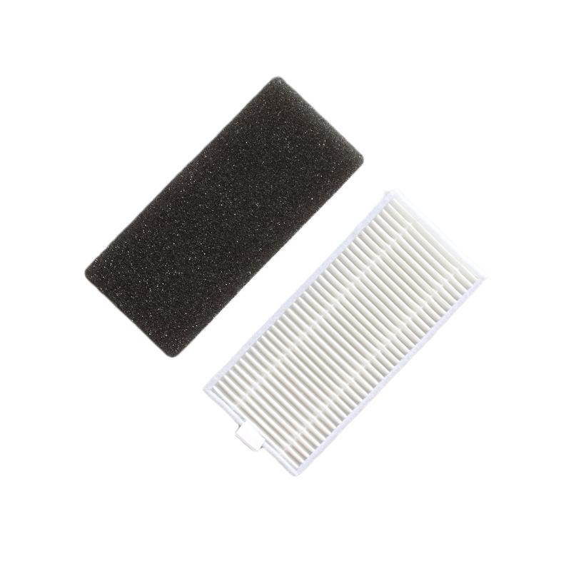 Schwammfilter HEPA Filter Seitenbürstensatz für Ilife A4 A4s A6 Robot