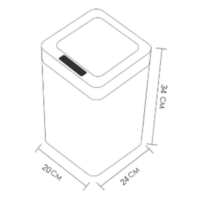 Poubelle-De-Capteur-Automatique-Poubelle-De-Capteur-Intelligent-De-Poubelle-X4D3 miniature 3