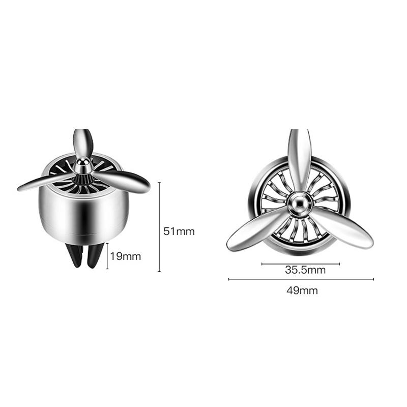 Parfuem-Diffusor-Luftwaffe-Propeller-Form-Auto-Lufterfrischer-Vent-Clip-Deko-M1Y3 Indexbild 4