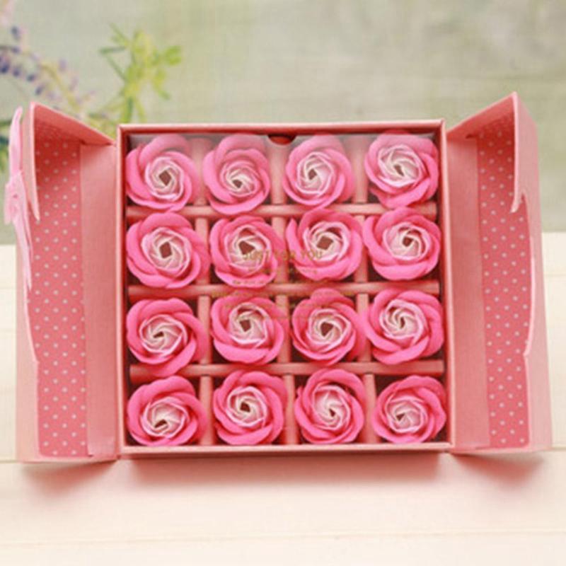 2X-16-Unids-Perfumado-Flor-De-Rosa-PETalo-Bano-Cuerpo-JaboN-Boda-Regalo-Del-T3J1 miniatura 12