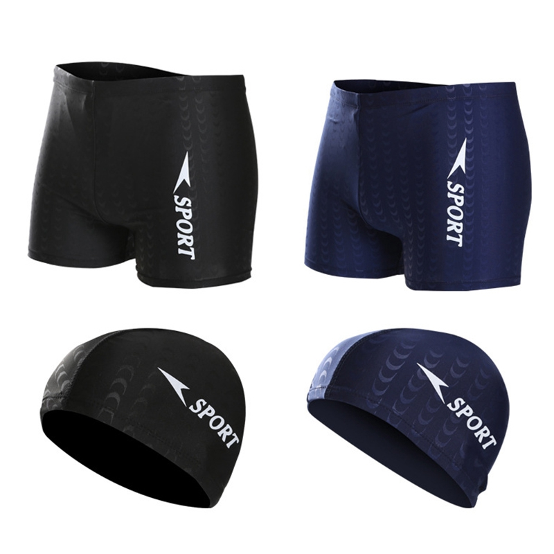 Costume-Da-Bagno-Boxer-Da-Uomo-Pantaloncini-Da-Bagno-Swim-Caps-Da-Uomo-A5A4 miniatura 7