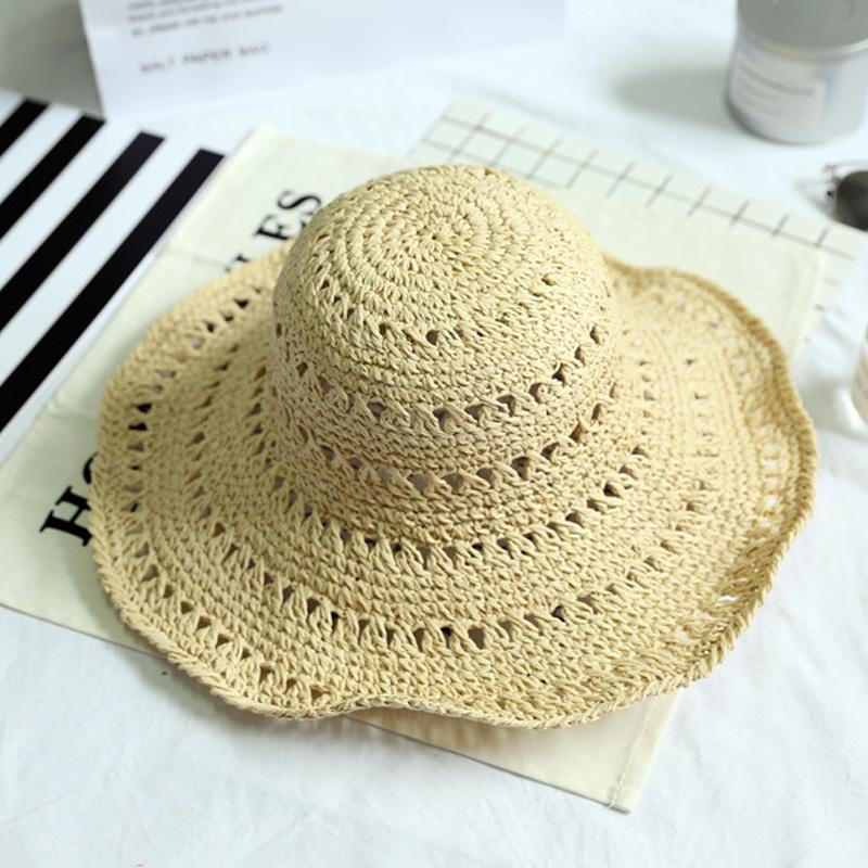 miniatura 4 - Estate Cappello Di Paglia Di Paglia Delle Donne Retro Cappelli Di Paglia Pi L5P7