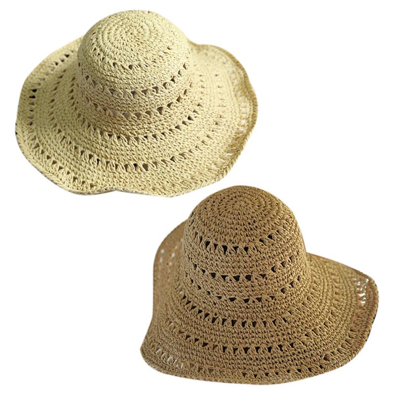 miniatura 13 - Estate Cappello Di Paglia Di Paglia Delle Donne Retro Cappelli Di Paglia Pi L5P7