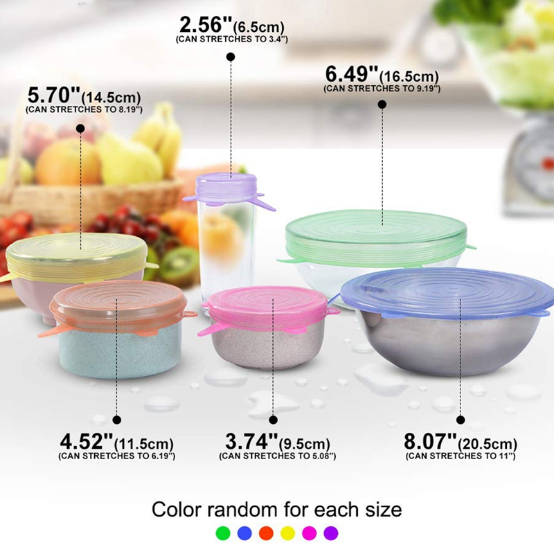 Silicone Stretch Lids-12 Pcs Ultimate Instalids Silicon Cover For Various  F0W7