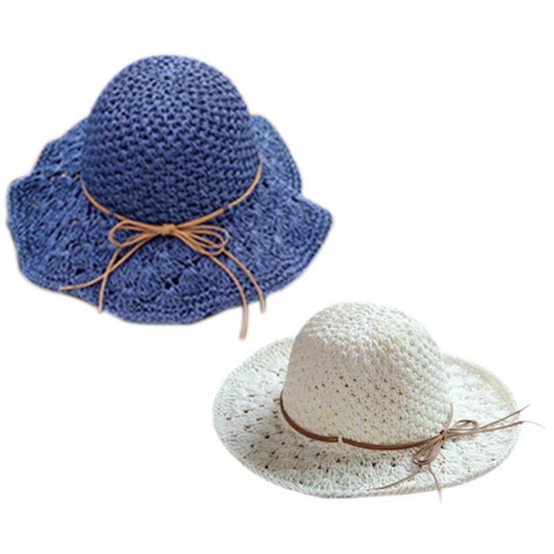 5X-Chapeau-D-039-Ete-Femmes-Pliable-Grand-Bord-Plage-Soleil-Chapeau-Chapeau-de-1H5 miniature 7