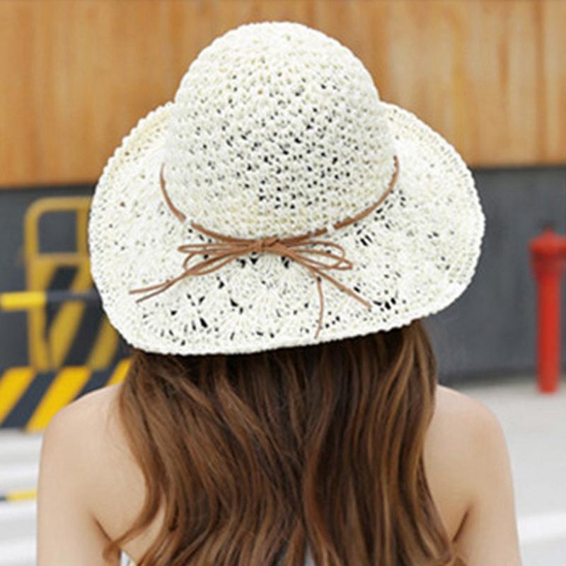 5X-Chapeau-D-039-Ete-Femmes-Pliable-Grand-Bord-Plage-Soleil-Chapeau-Chapeau-de-1H5 miniature 11