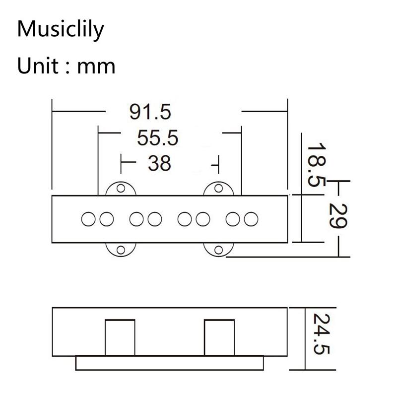 Pro-Elektrisch-Bass-Offener-Typ-Geraeuschlos-Bruecke-Pickup-fuer-4-Saitigen-Ja-L7T7 Indexbild 6