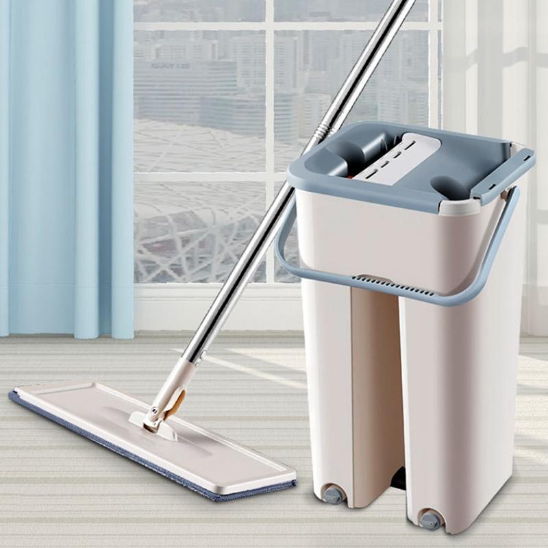 Magic-automatische-Spin-Mop-Hand-Free-Waschen-Mikrofaser-Reinigungstuch-c3p6 Indexbild 3