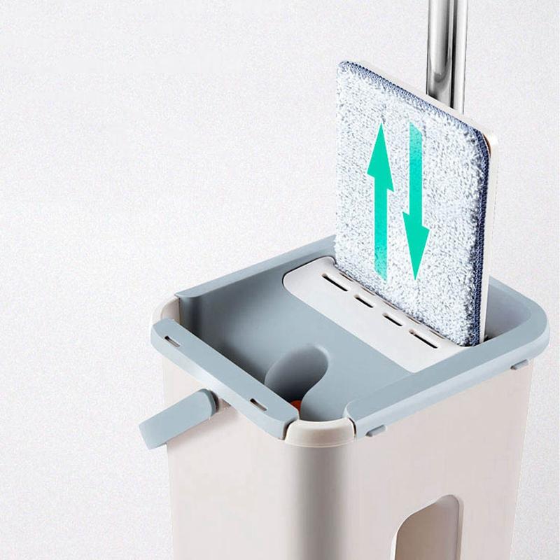 Magic-automatische-Spin-Mop-Hand-Free-Waschen-Mikrofaser-Reinigungstuch-c3p6 Indexbild 4