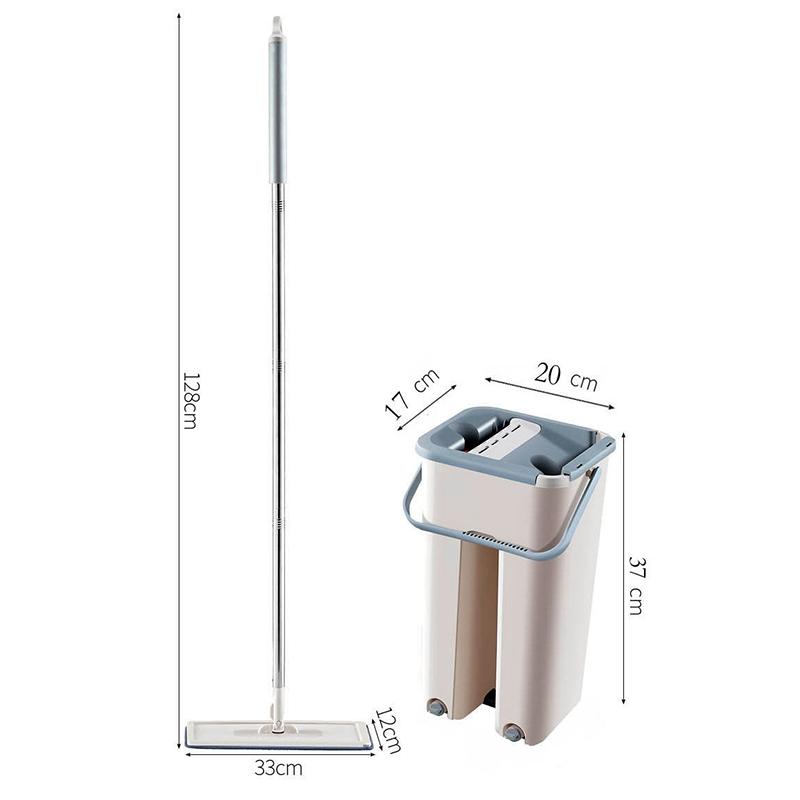 Magic-automatische-Spin-Mop-Hand-Free-Waschen-Mikrofaser-Reinigungstuch-c3p6 Indexbild 5