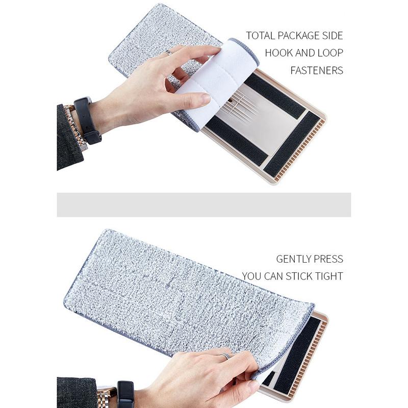 Magic-Automatic-Spin-Mop-Hand-Free-Washing-Microfiber-Fiber-Cleaning-Cloth-A1V5 thumbnail 11