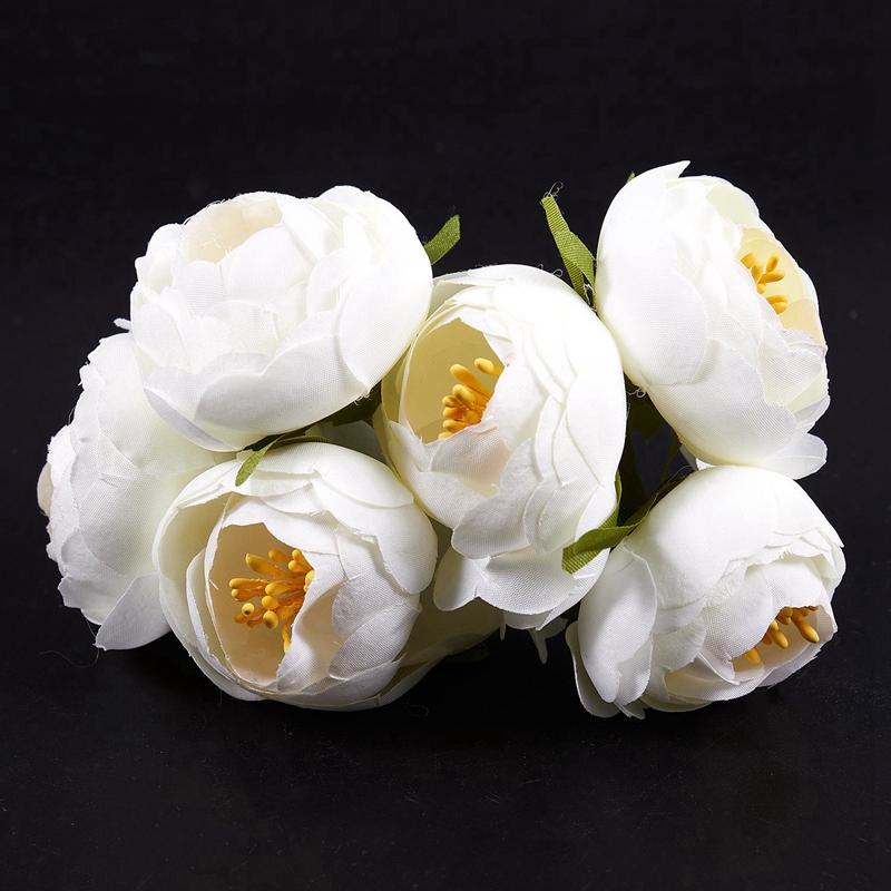 6pcs-Lot-Simulation-Seidentuch-Bouquet-Braut-Haelt-Blumen-Dekorative-Blumen-X7D6 Indexbild 11