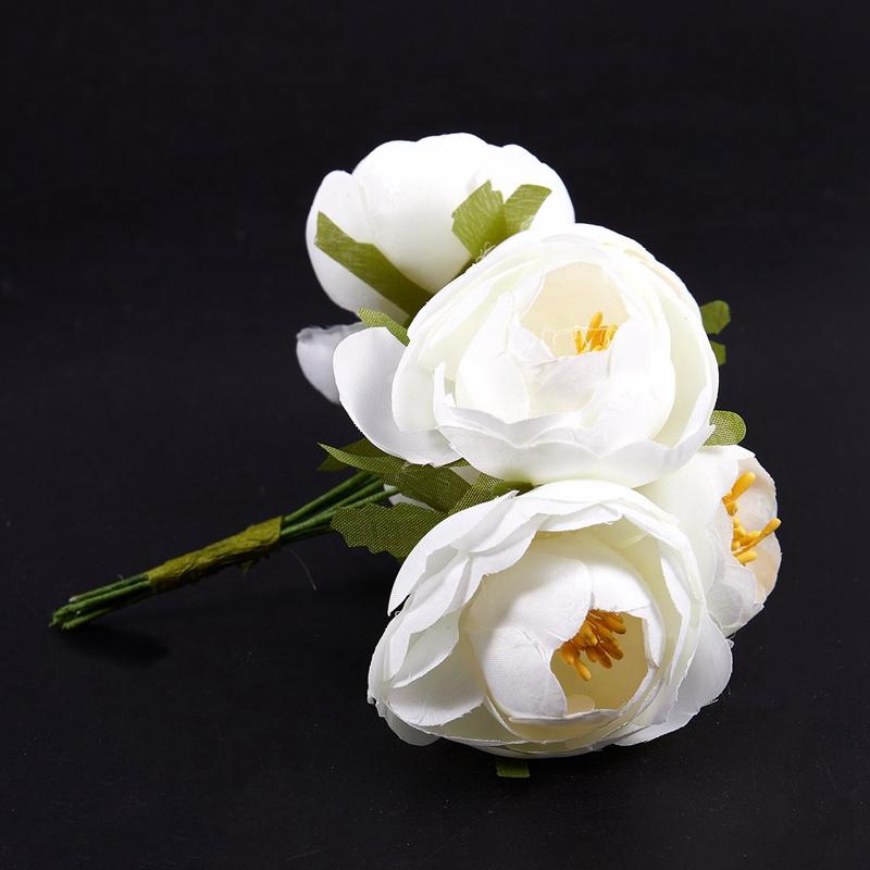 6pcs-Lot-Simulation-Seidentuch-Bouquet-Braut-Haelt-Blumen-Dekorative-Blumen-X7D6 Indexbild 14