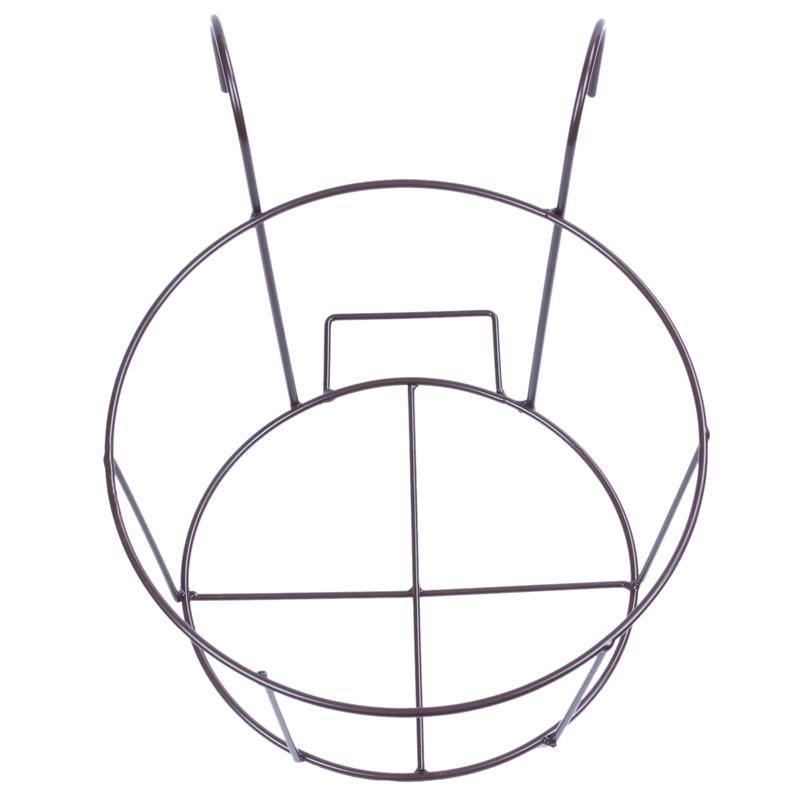 Metal-Iron-Flower-Pot-Hanging-Balcony-Garden-Plant-Planter-Home-Decor-baske-Q3F3 thumbnail 6