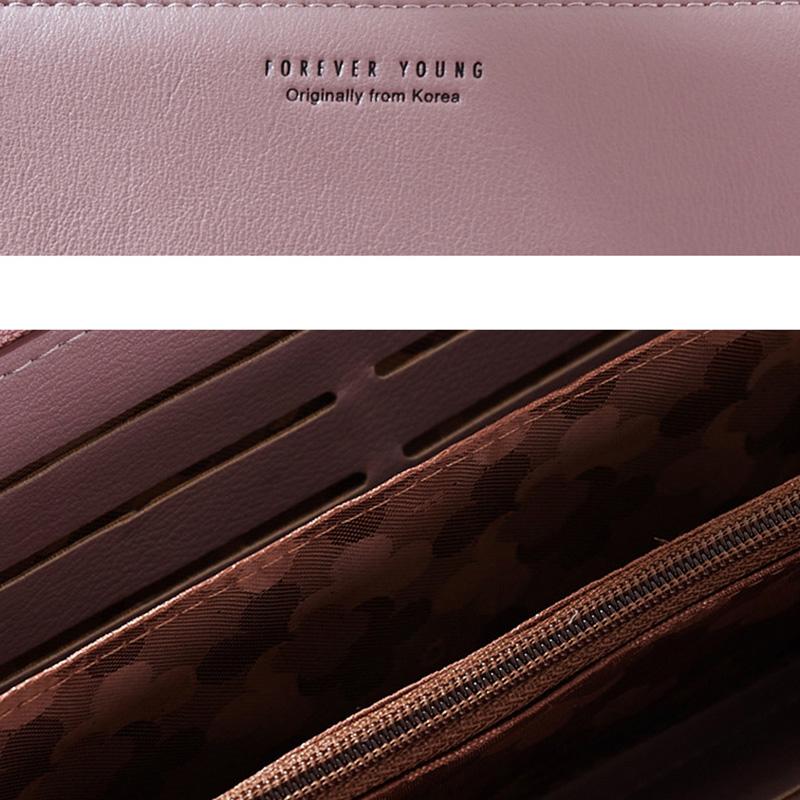 Poignet-Bande-Femmes-Longue-Portefeuille-D-039-Embrayage-Grande-Capacite-Portef-E7V9 miniature 37