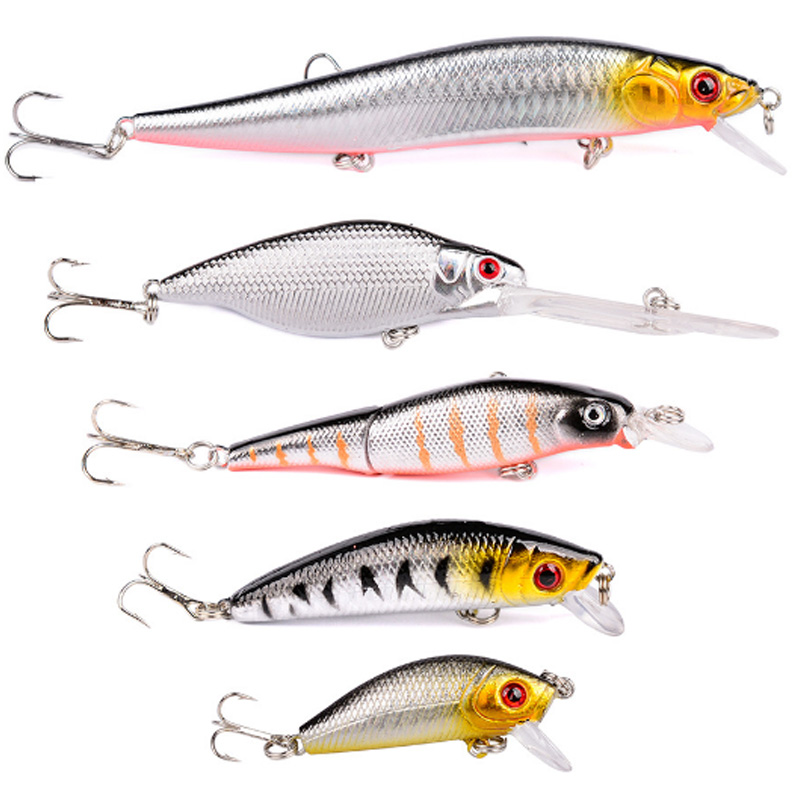 """2018 Set of Two 4.25/"""" LONG Fishing Lures Crankbait Minnow Baits Morning Shad"""