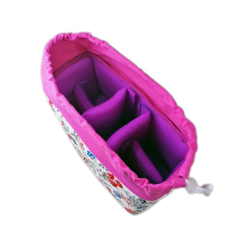 Insertion-Floral-Partition-Dslr-Camera-Bag-Lentilles-Antichoc-Case-Coque-D9Q4 miniature 17