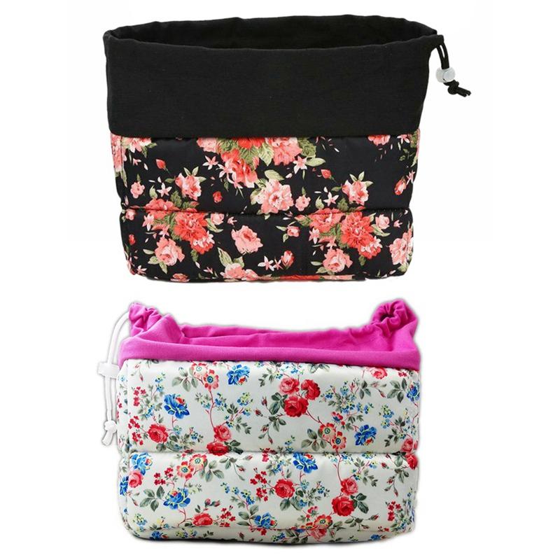 Insertion-Floral-Partition-Dslr-Camera-Bag-Lentilles-Antichoc-Case-Coque-D9Q4 miniature 19