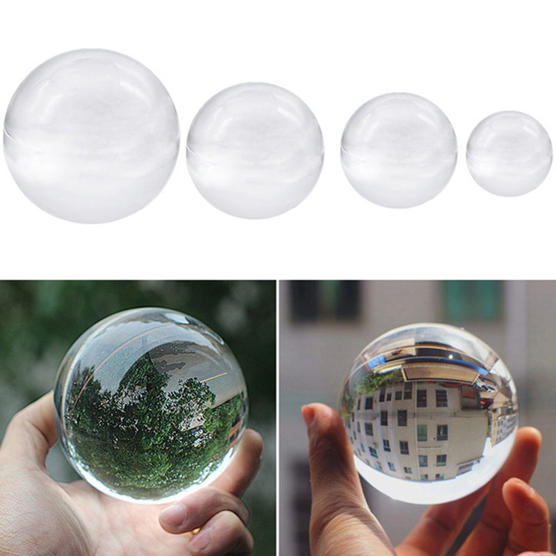 Color-Transparente-Bola-de-Cristal-Esfera-de-Cristal-Curacion-Fotografia-Apo-u2O miniatura 4