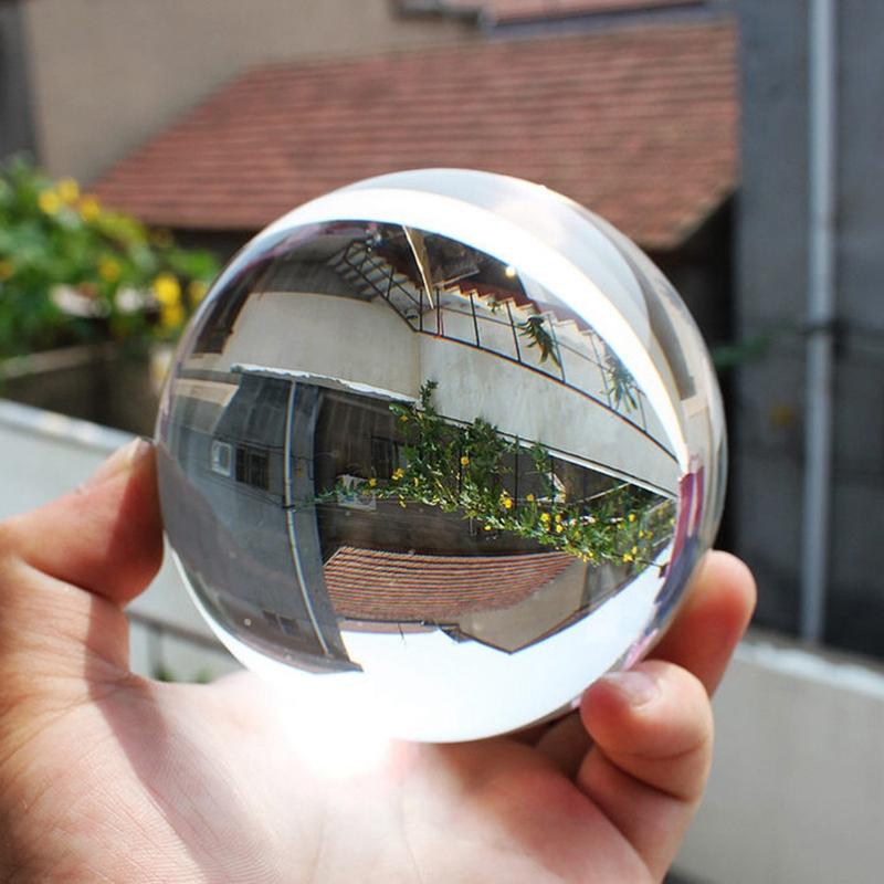 Color-Transparente-Bola-de-Cristal-Esfera-de-Cristal-Curacion-Fotografia-Apo-u2O miniatura 9