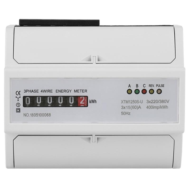 Digitale 3-Fase 4 Wire Din-Rail Contatore Elettrico 20 80 A KWh Metro Trifase