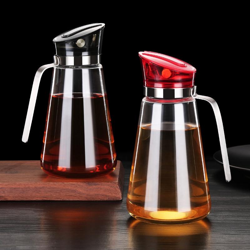 2X-Auto-Flip-Olive-Oil-Dispenser-Bottle-21-Oz-Leakproof-Condiment-Container-F4G5 thumbnail 7