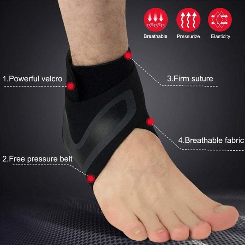 1X-Ajustable-Cheville-Brace-Sleeve-Respirant-pour-Sports-Protege-Contre-Les-N5L8 miniature 9