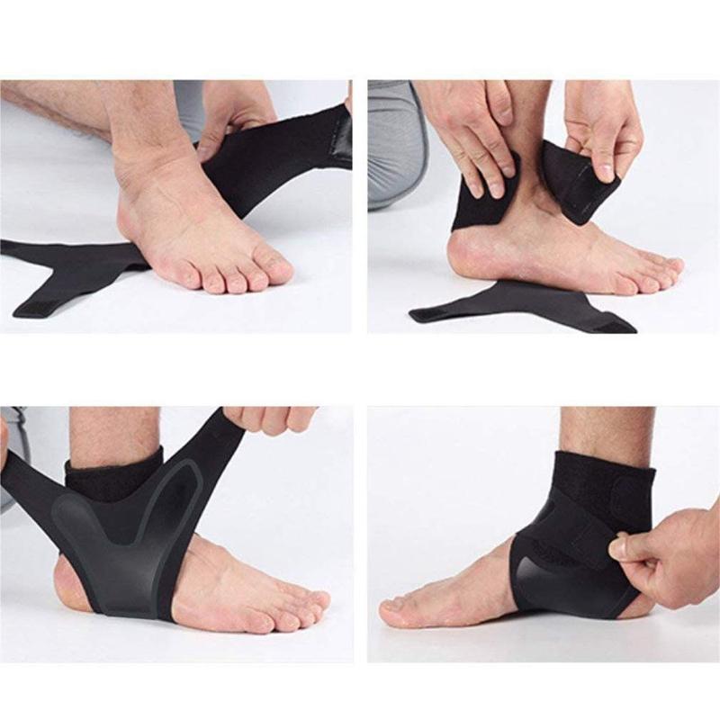 1X-Ajustable-Cheville-Brace-Sleeve-Respirant-pour-Sports-Protege-Contre-Les-N5L8 miniature 10