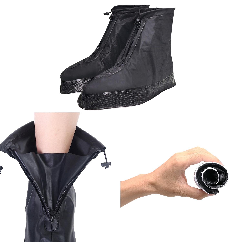 Dettagli su Copriscarpe per Uomo Donna Stivali da Pioggia Impermeabili con Bordo Spesso F7L6