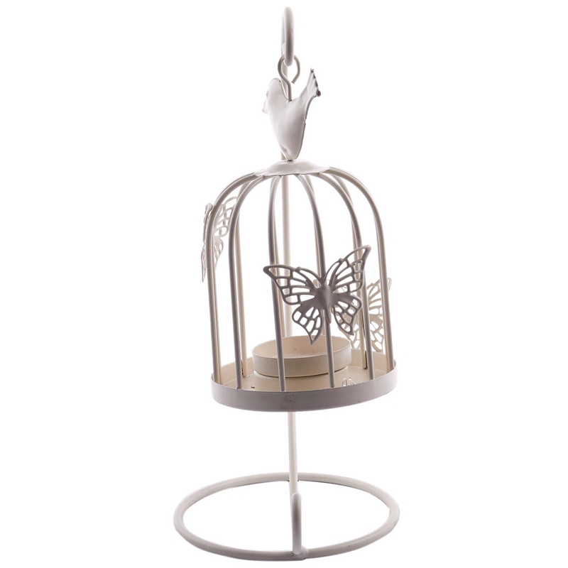 Vintage-Decor-Candle-Holders-Candelabra-Bird-Cages-Candlesticks-Decorative-P4S7 thumbnail 5