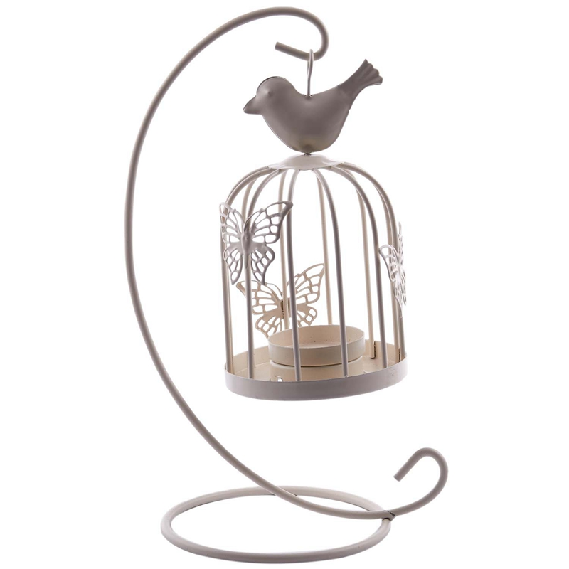 Vintage-Decor-Candle-Holders-Candelabra-Bird-Cages-Candlesticks-Decorative-P4S7 thumbnail 6