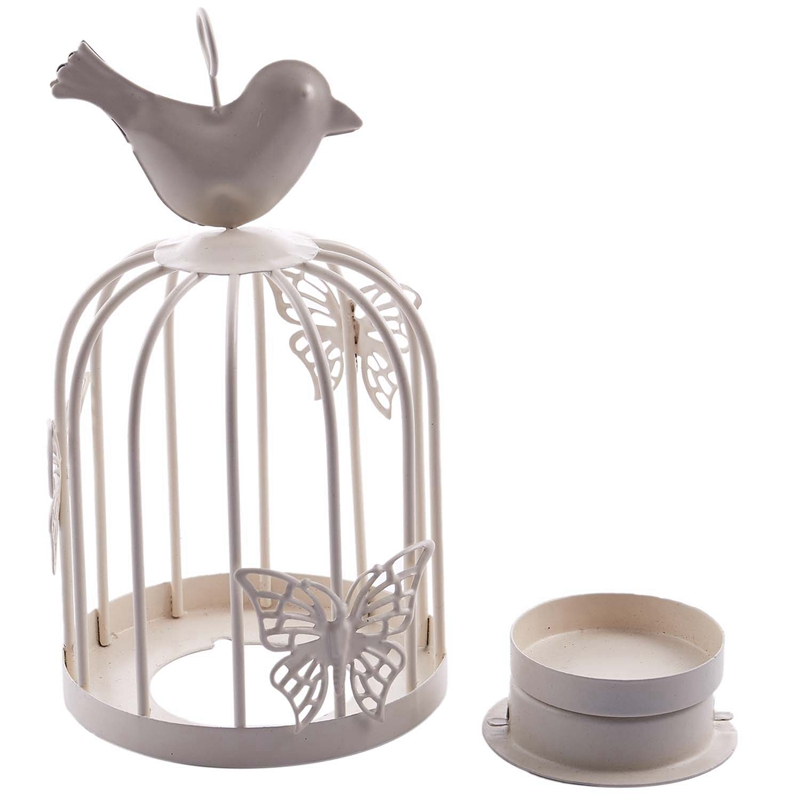 Vintage-Decor-Candle-Holders-Candelabra-Bird-Cages-Candlesticks-Decorative-P4S7 thumbnail 7