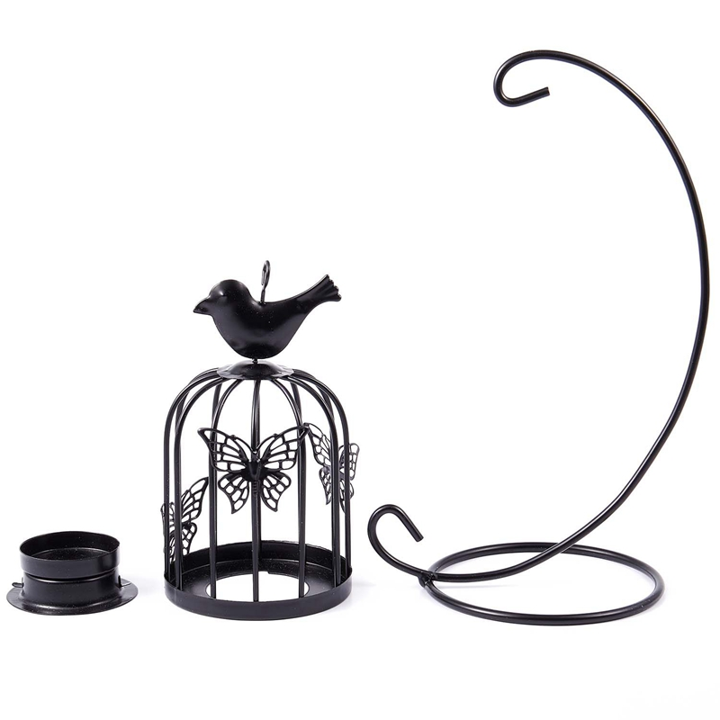 Vintage-Decor-Candle-Holders-Candelabra-Bird-Cages-Candlesticks-Decorative-P4S7 thumbnail 16