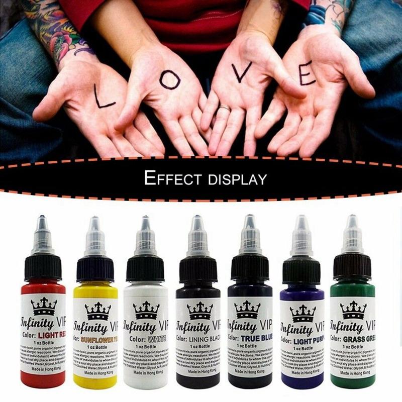 1X-2Pcs-30Ml-Bottle-Professional-Tattoo-Pigment-Pure-Plant-Small-Tattoo-PigL5X2 thumbnail 4