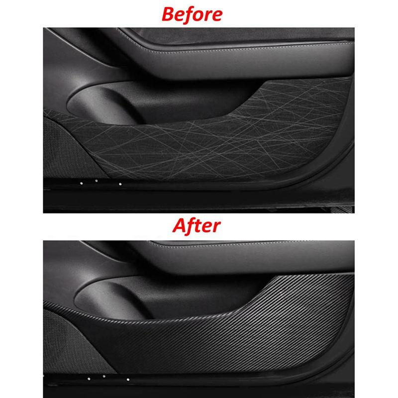 For Tesla Model 3 Door Anti-Kick Wrap Sticker Door Edge ...