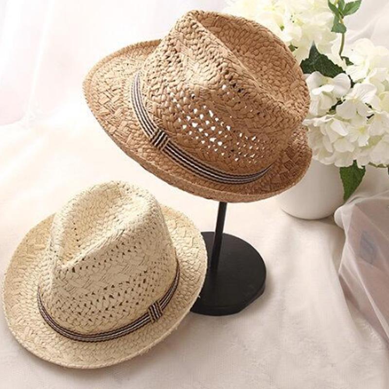 Summer-Women-Sun-Hats-Sweet-Tassel-Balls-Men-Straw-Hats-Girls-Vintage-Beach-B2G4 thumbnail 4