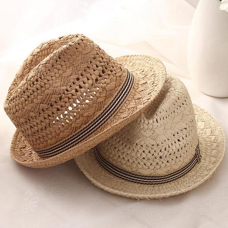 Summer-Women-Sun-Hats-Sweet-Tassel-Balls-Men-Straw-Hats-Girls-Vintage-Beach-B2G4 thumbnail 5