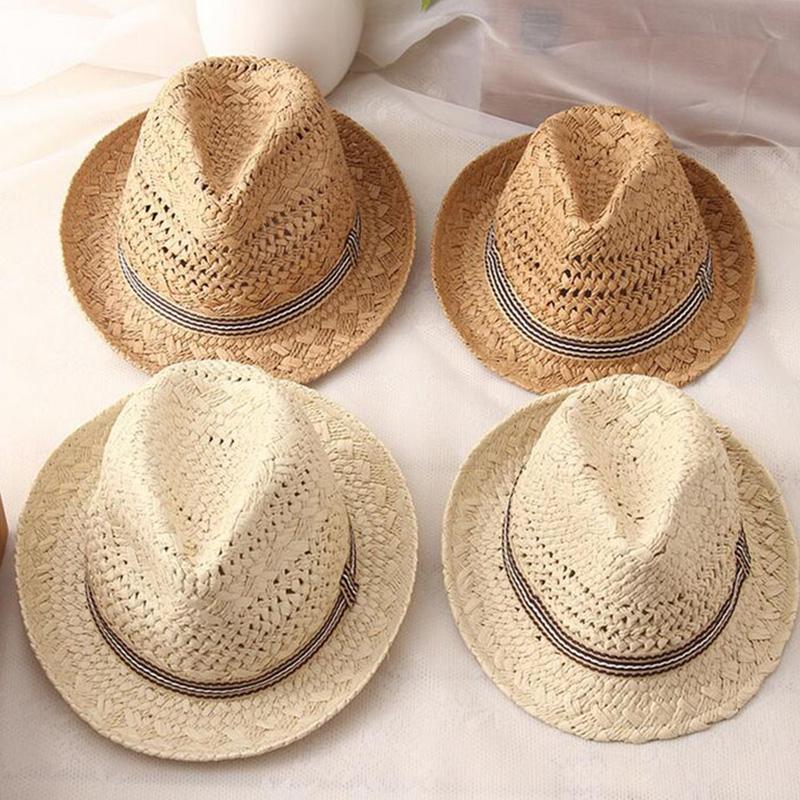 Summer-Women-Sun-Hats-Sweet-Tassel-Balls-Men-Straw-Hats-Girls-Vintage-Beach-B2G4 thumbnail 6