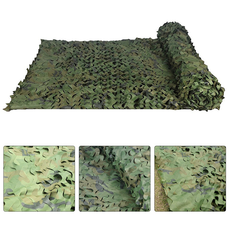 Hunting-Camouflage-Nets-Woodland-Camo-Netting-Blinds-Great-For-Sunshade-Cam-X7G9 thumbnail 4
