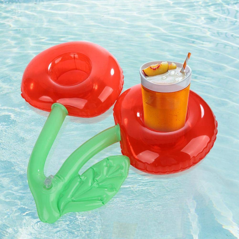 2X-Outdoor-Water-Cherry-Cup-Holder-Pool-Party-Drink-Holder-Floating-Beach-F6Z2 thumbnail 2