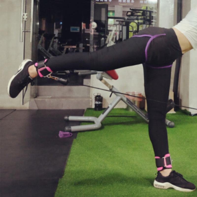 Einstellbare-D-Ring-Knoechelriemen-Fussstuetze-Knoechelschutz-Fitness-Gym-Bein-G5T9 Indexbild 5