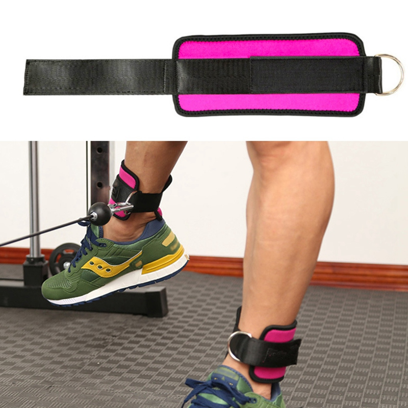 Einstellbare-D-Ring-Knoechelriemen-Fussstuetze-Knoechelschutz-Fitness-Gym-Bein-G5T9 Indexbild 7