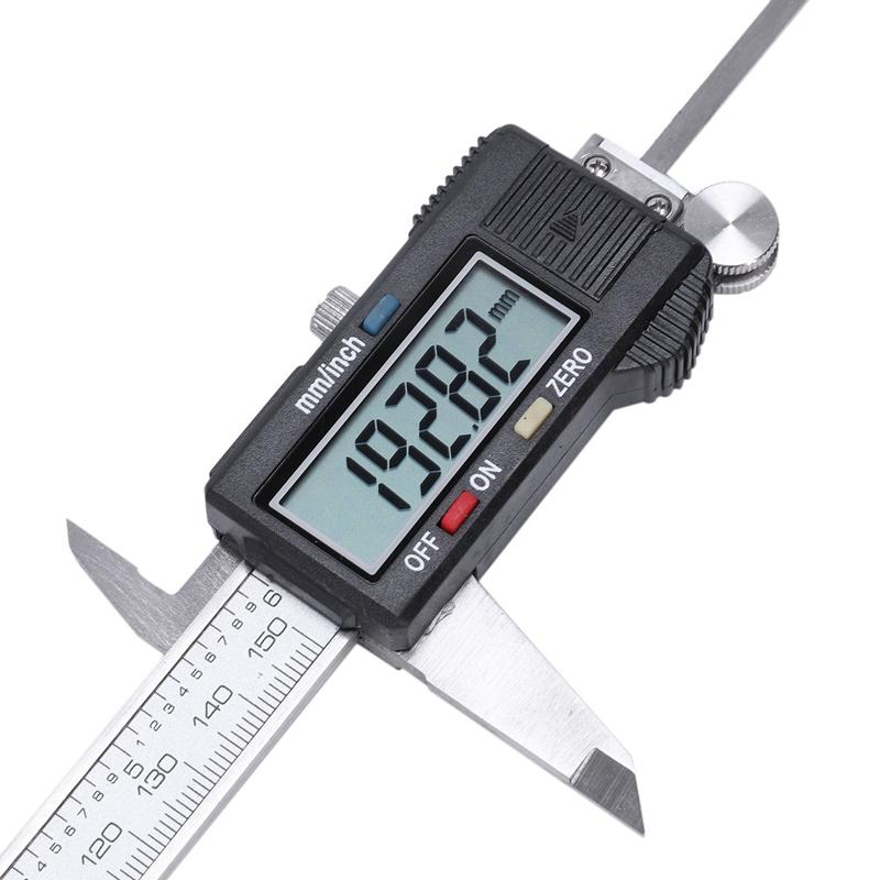 Plata-6-034-150mm-electronica-digital-pie-de-Rey-Calibre-grande-herramienta-de-J1V1 miniatura 6