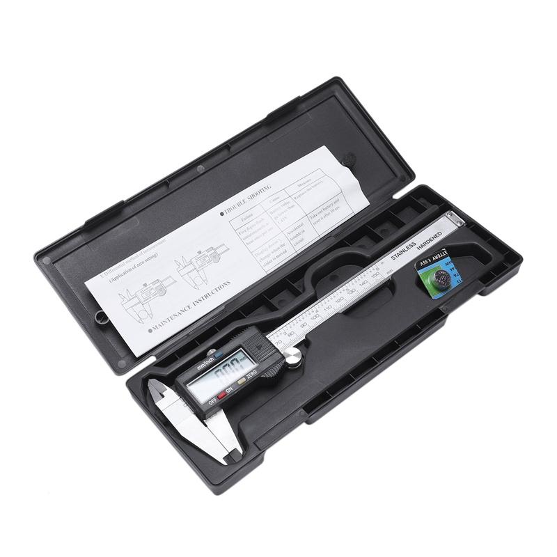 Plata-6-034-150mm-electronica-digital-pie-de-Rey-Calibre-grande-herramienta-de-J1V1 miniatura 8