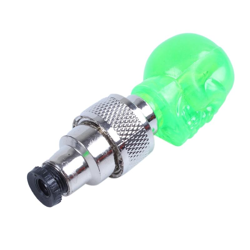2X-Bouchon-de-Valve-Roue-Pneu-LED-Lampe-Lumineuse-Moto-Bicyclette-Velo-Voit-J2U1 miniature 8