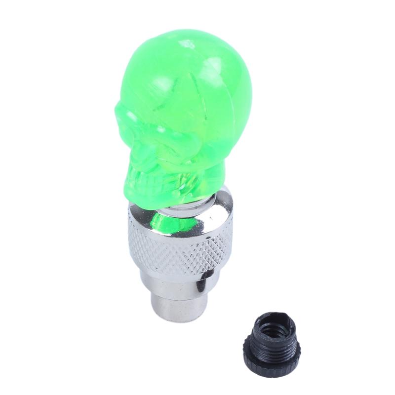 2X-Bouchon-de-Valve-Roue-Pneu-LED-Lampe-Lumineuse-Moto-Bicyclette-Velo-Voit-J2U1 miniature 9