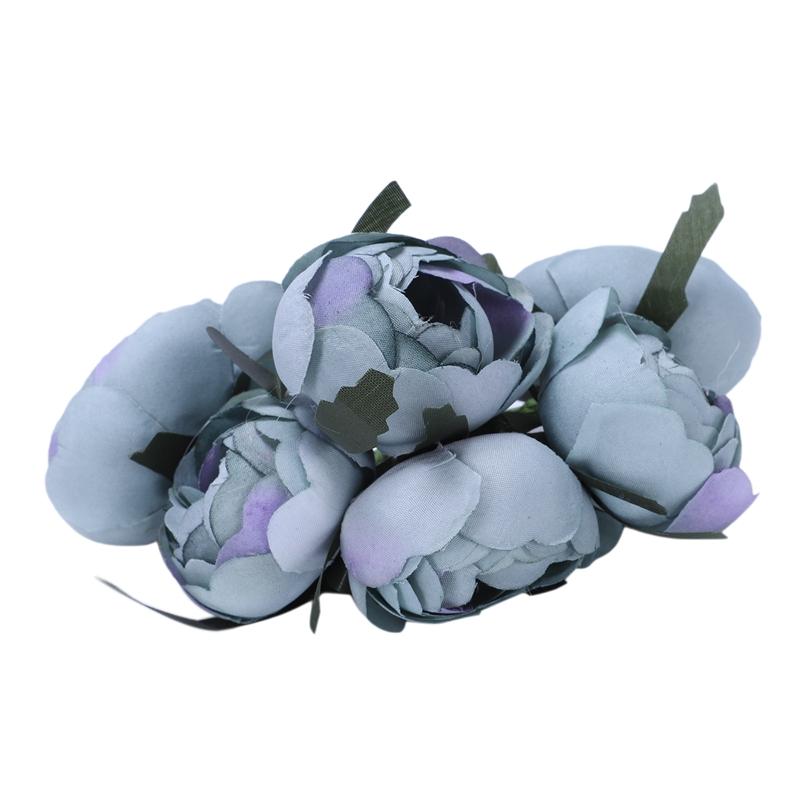 6pcs-Lot-Simulation-Seidentuch-Bouquet-Braut-Haelt-Blumen-Dekorative-Blumen-X7D6 Indexbild 23