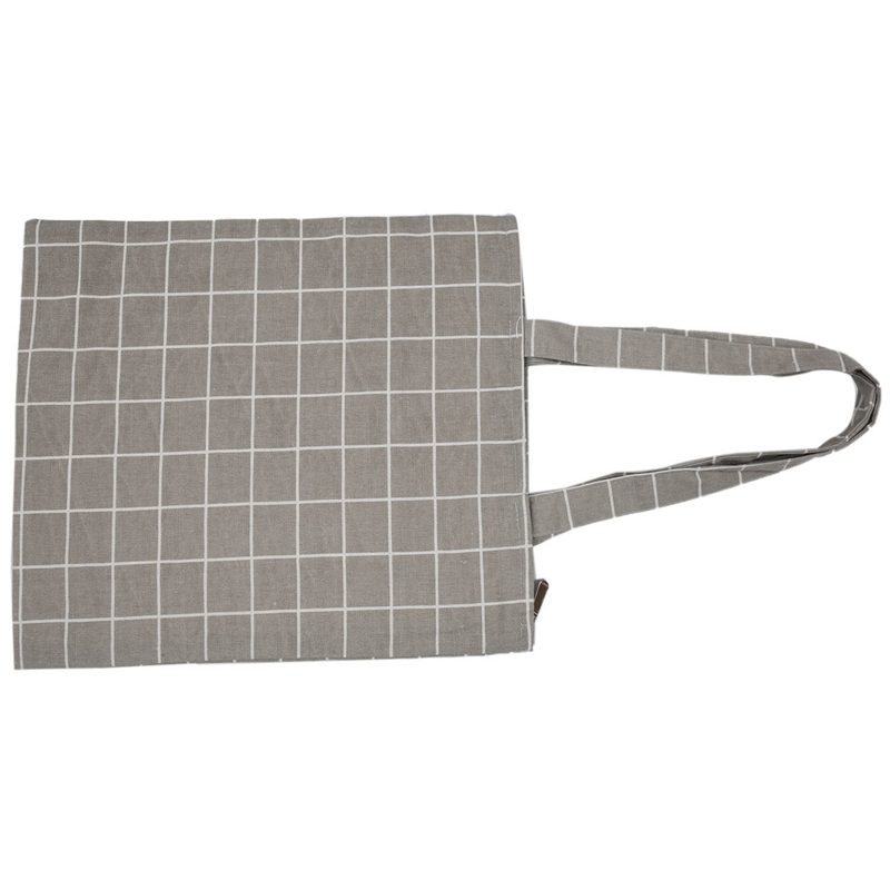 Frauen-Student-Baumwolle-Leinwand-Mode-Plaid-Schulter-Handtasche-Handtasc-K6X2 Indexbild 14